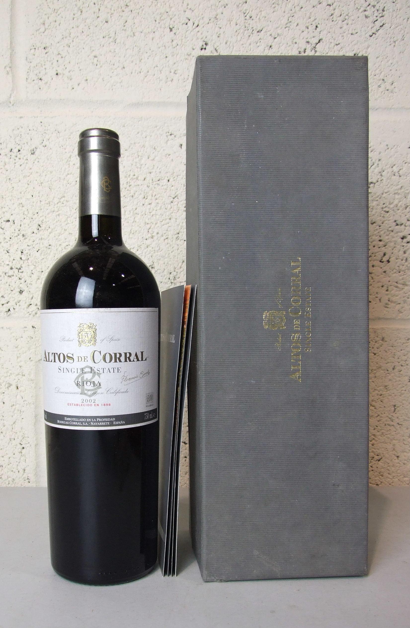 Lot 43 - Spain, Rioja Altos de Corral single estate 2002, one magnum, (1).