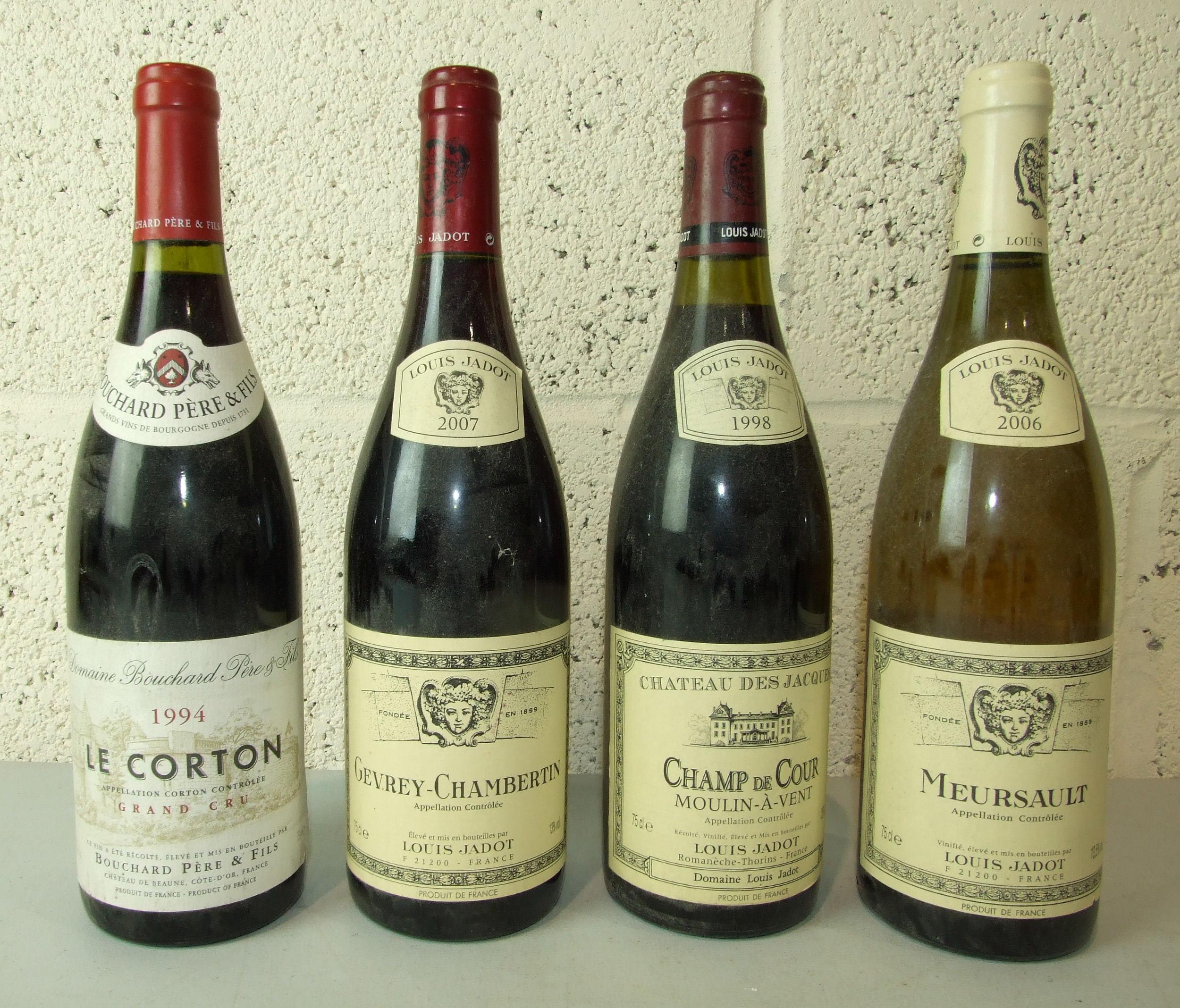Lot 49 - France, Louis Jadot Gevrey-Chambertin 2007, one bottle; Bouchard Pere & Fils, Le Corton 1994, one