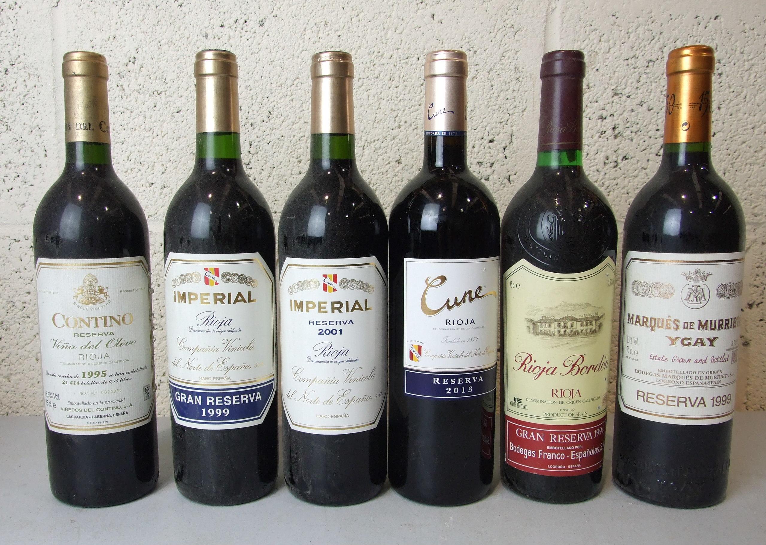 Lot 53 - Spain, eleven bottles of mixed vintages, (11).