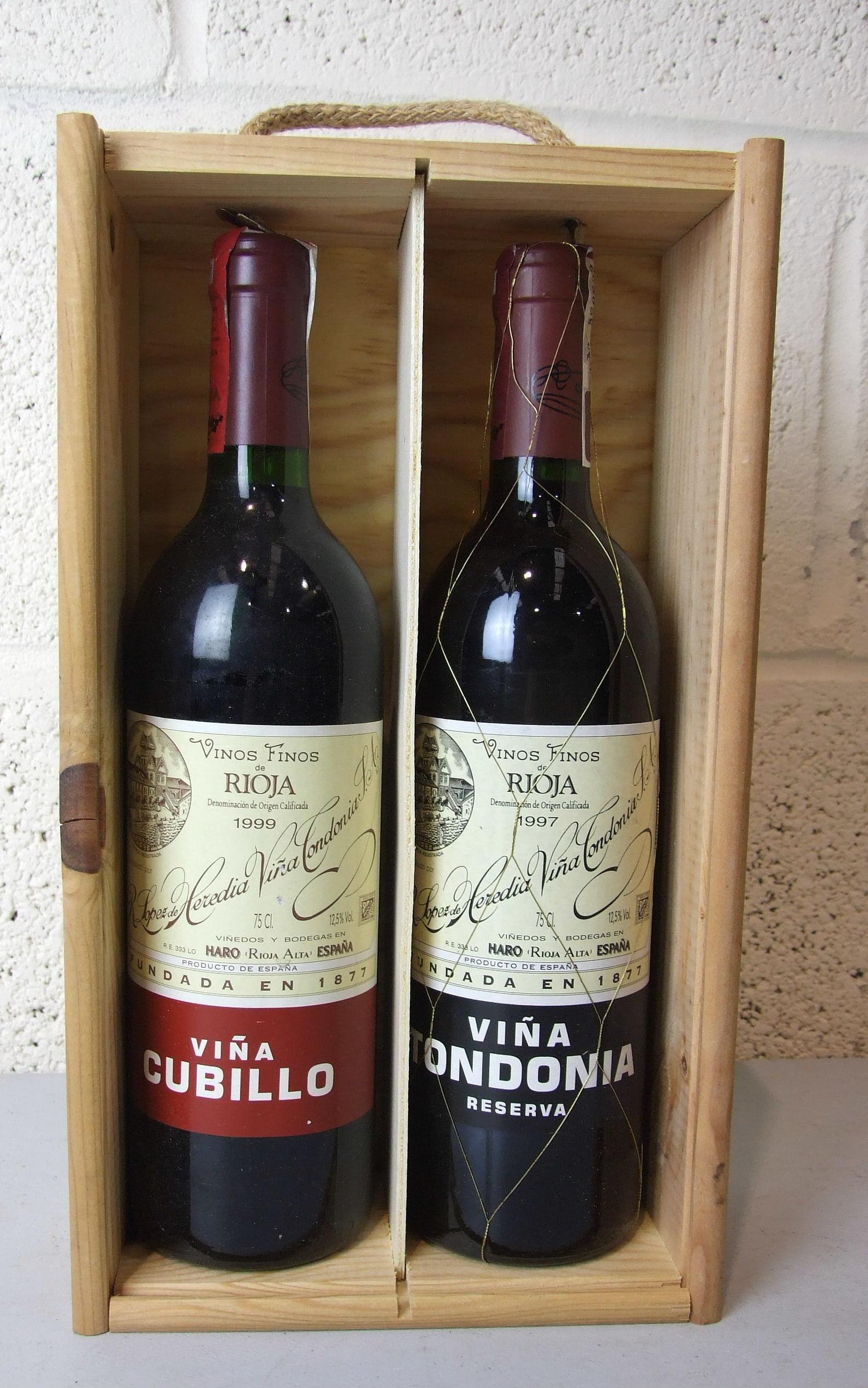 Lot 30 - Spain, Rioja Viña Cubillo 1999, one bottle and Viña Tondonia 1997, one bottle, (2).