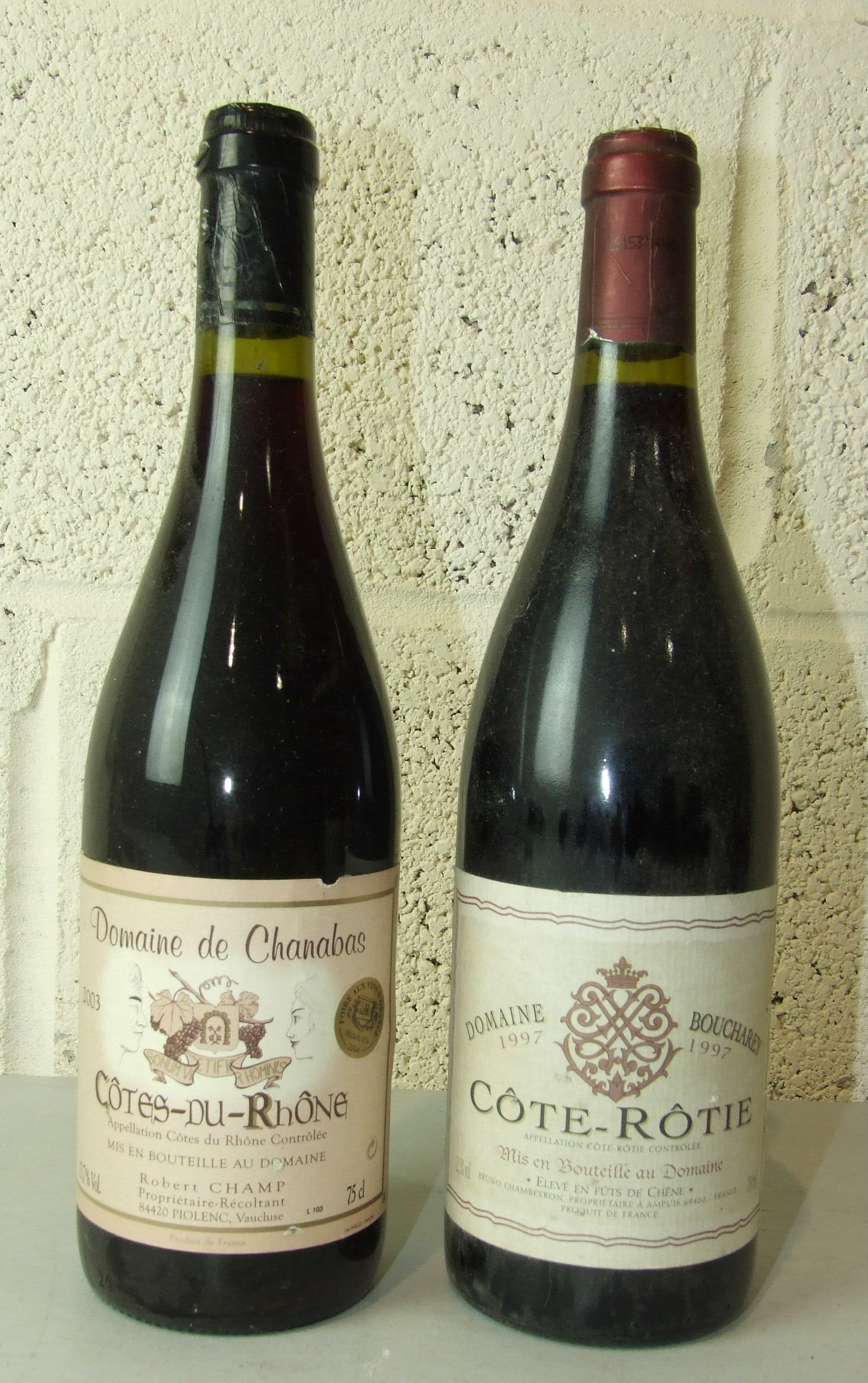 Lot 50 - France, Domaine Boucharey, Côte-Rôtie 1997, one bottle and four others, (5).