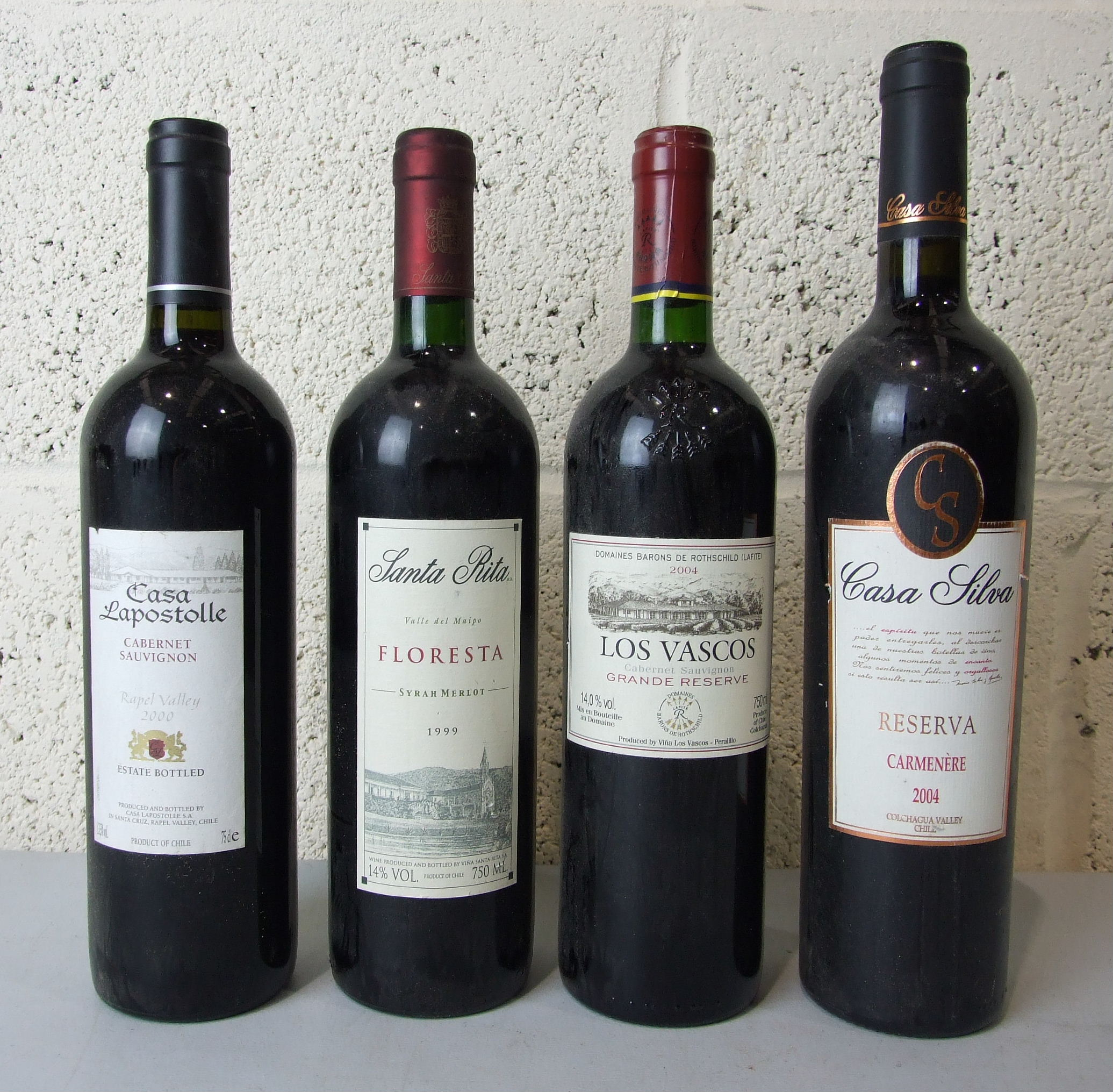 Lot 36 - Chile, Los Vascos Grande Reserve, (Baron de Rothschild), 2004, one bottle and three others, (4).