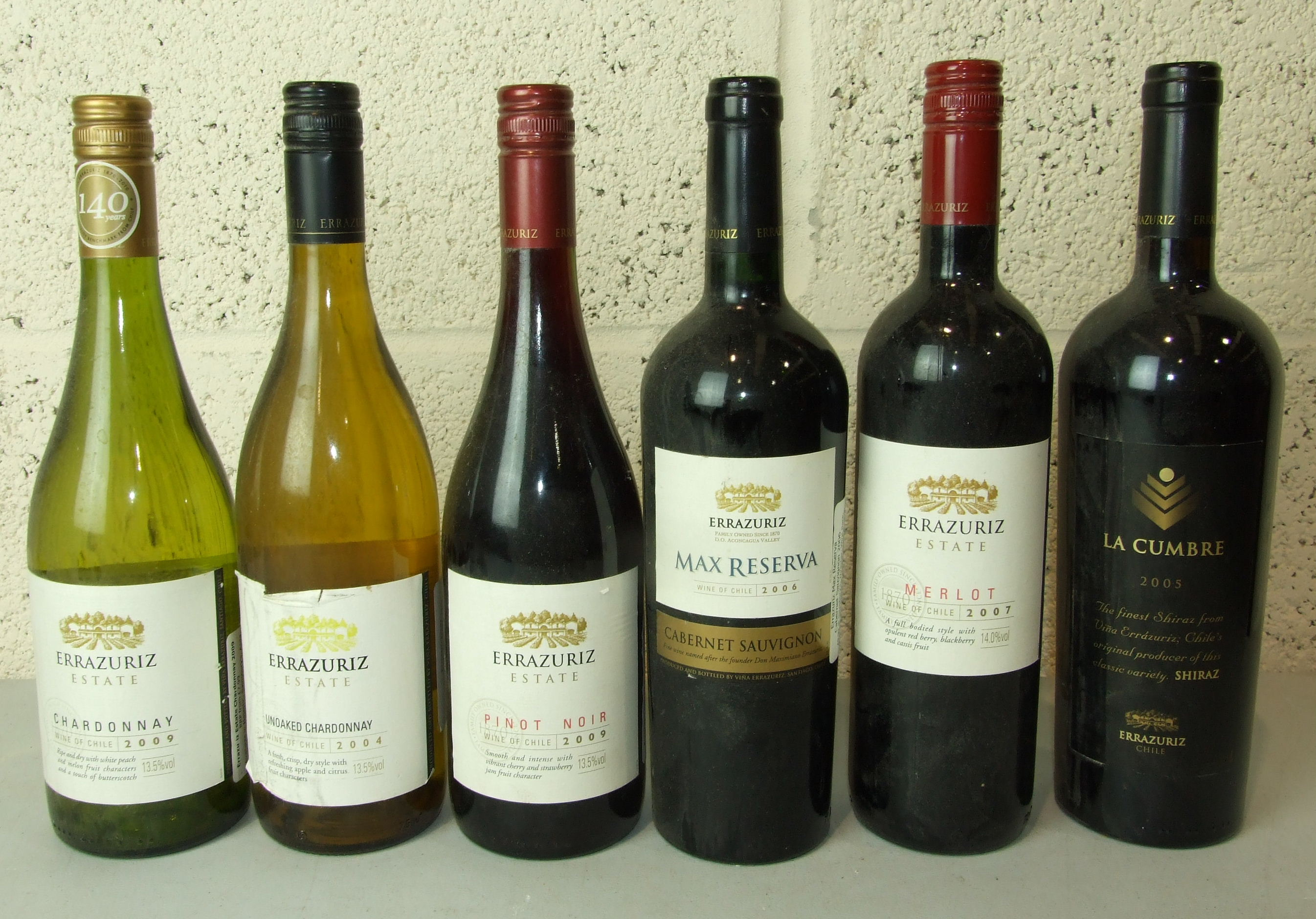 Lot 52 - Chile, mainly Rioja, a mixed lot of vintages, red and white including Errazuriz Cabinet Sauvignon