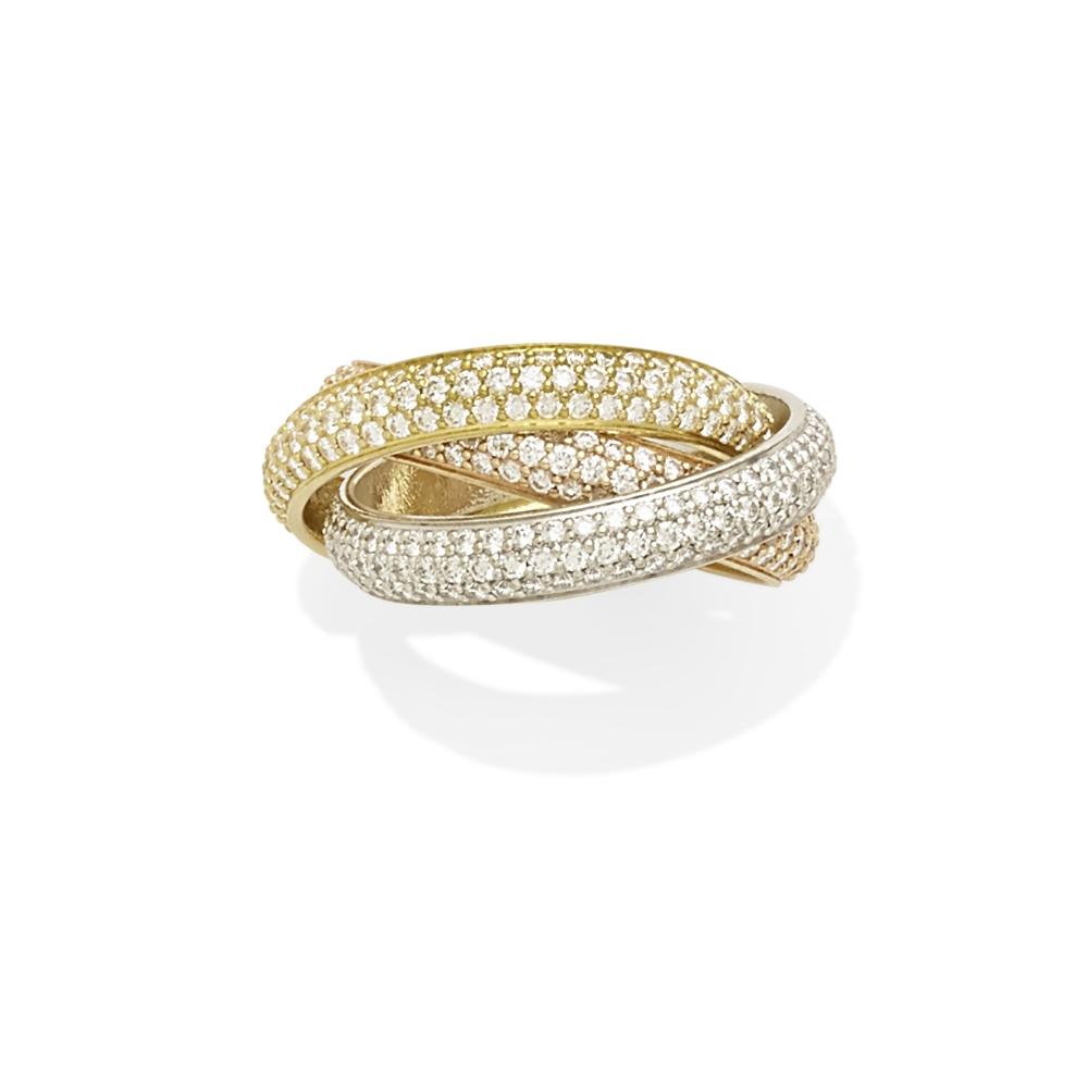 A diamond 'Trinity' rolling ring, Cartier