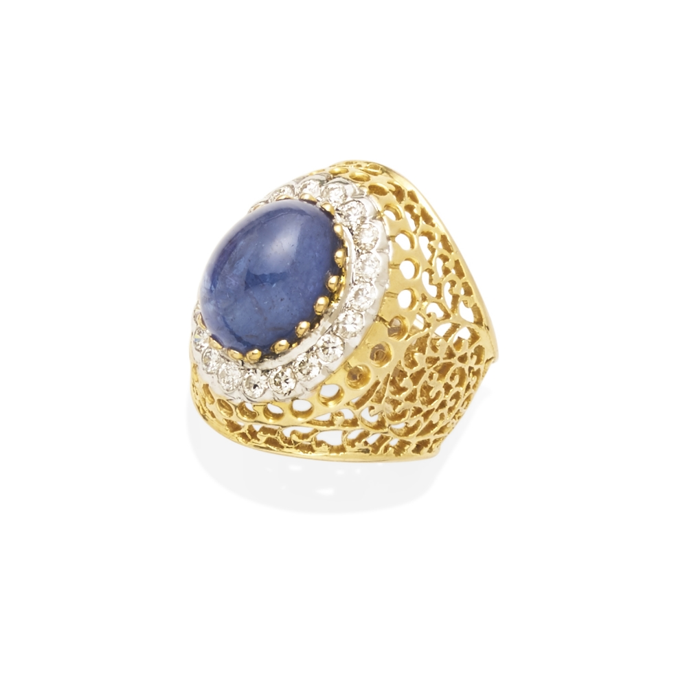 A tanzanite and diamond ring - Image 2 of 2