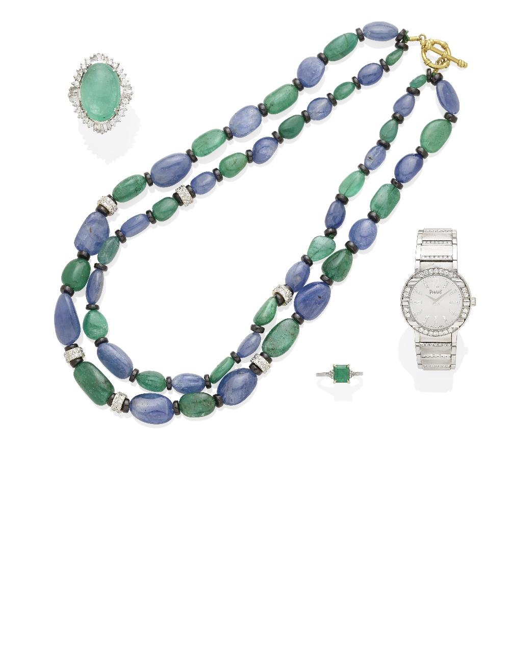 A Lady's Diamond and 18k White Gold 'Polo' Bracelet Watch, Piaget