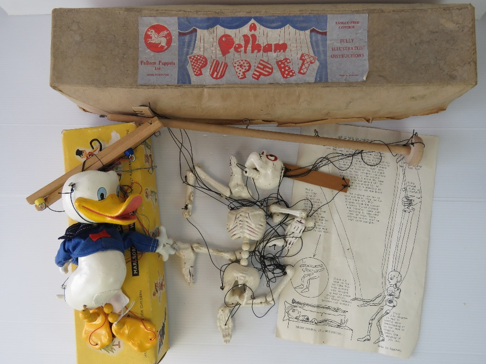 Lot 680 - Two Pelham Puppets of Donald Duck and a