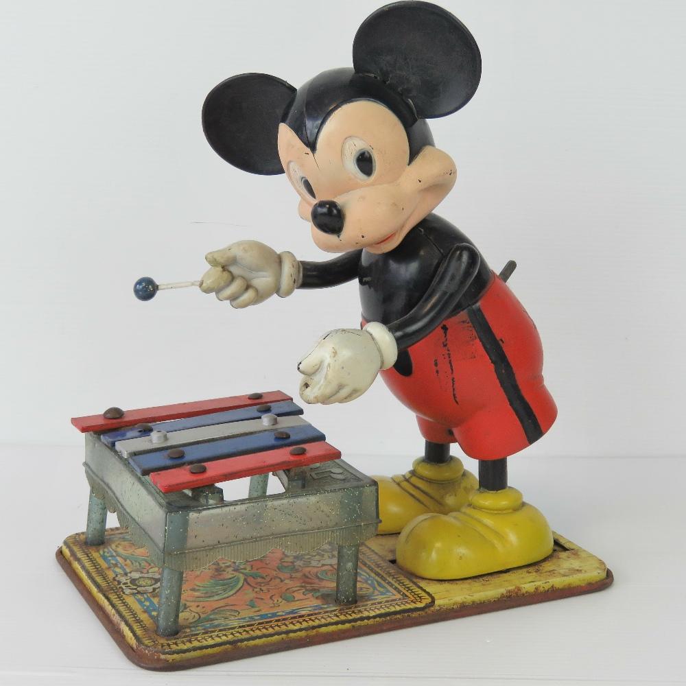 Lot 707 - A vintage wind-up clockwork Mickey Mouse