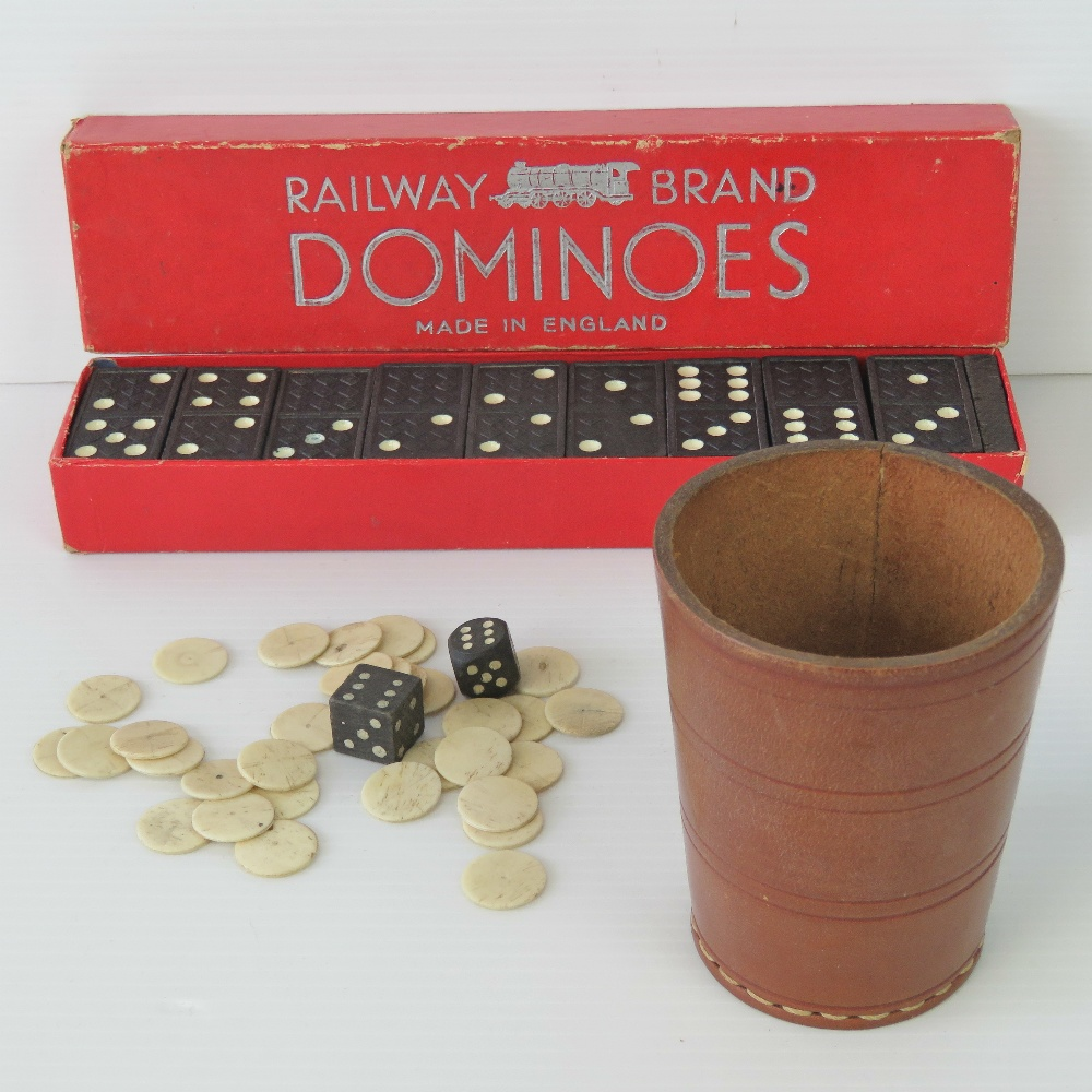 Lot 696 - A quantity of bone gaming counters (thir