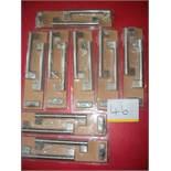8 Pairs x 2 Brushed Nickel Effort Keyhole Handles