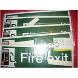 5 x Fire Exit Running Man Sign