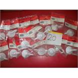 16 x 50mm Lever Suction Hooks