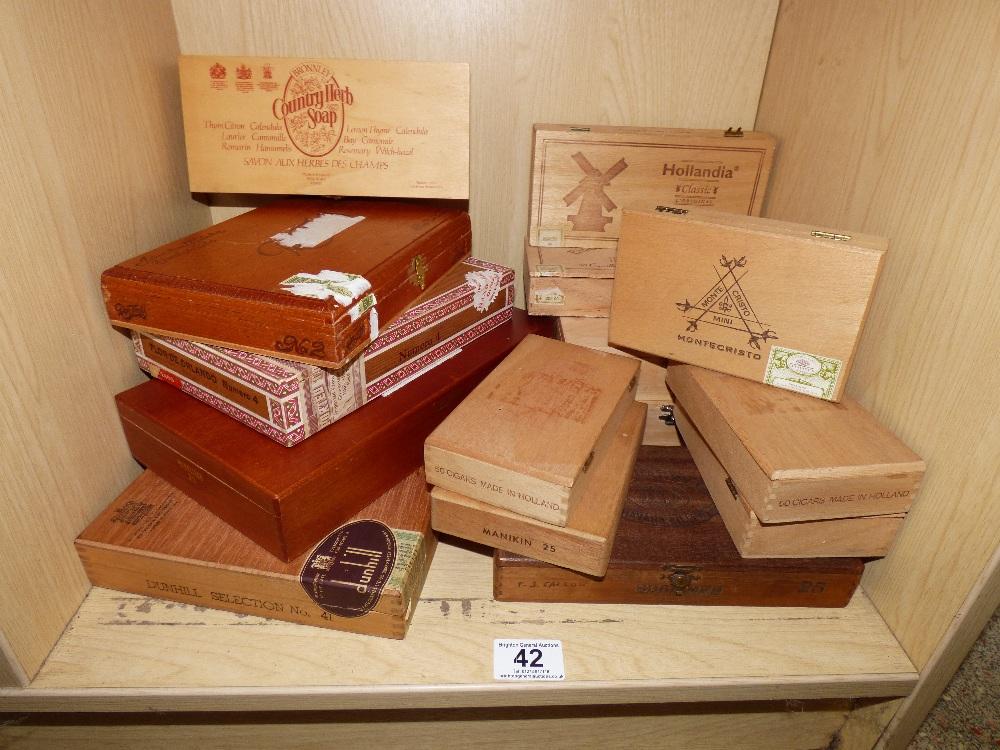 Lot 42 - QUANTITY OF EMPTY CIGAR BOXES