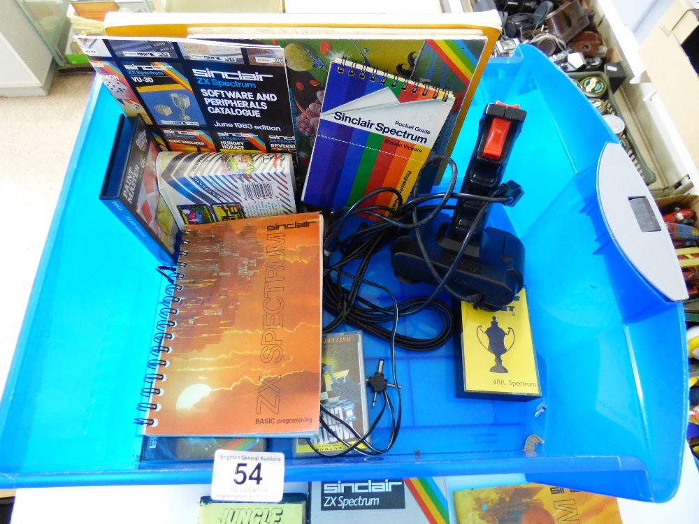 Lot 54 - SINCLAIR ZX SPECTRUM + & ACCESSORIES