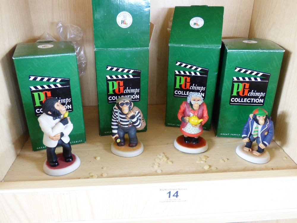 Lot 14 - 4 BOXED 'PG CHIMPS COLLECTION' FIGURES