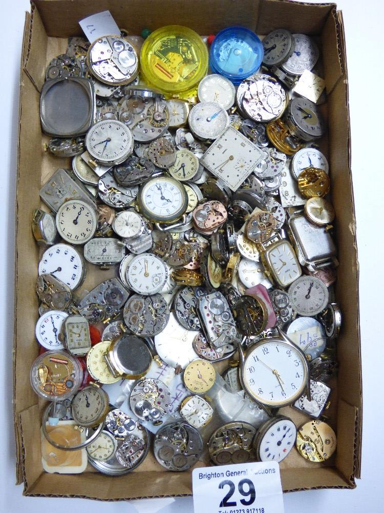 Lot 29 - BOX OF VINTAGE WATCH FACES