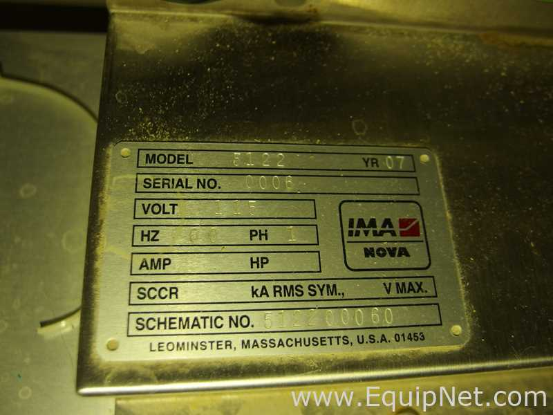 Lot 56 - IMA Nova 5122 Euro Capper with Cap Elevator