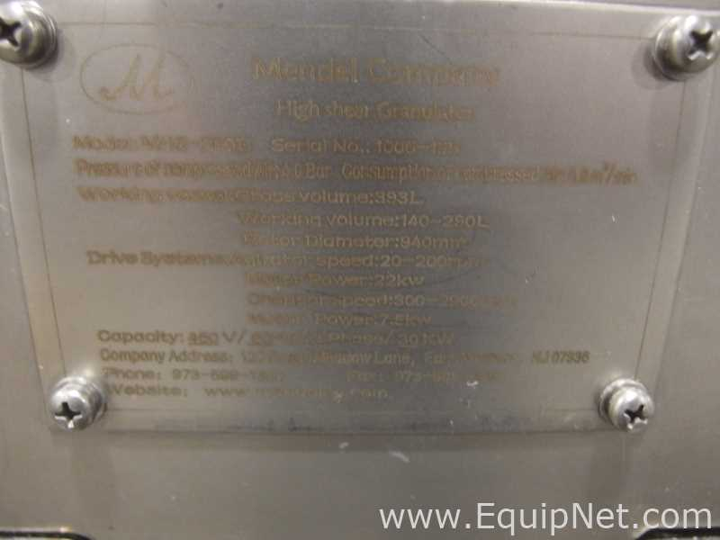 Mendel Fluid Bed Dryer Suite with High Shear Mixer - Image 14 of 56