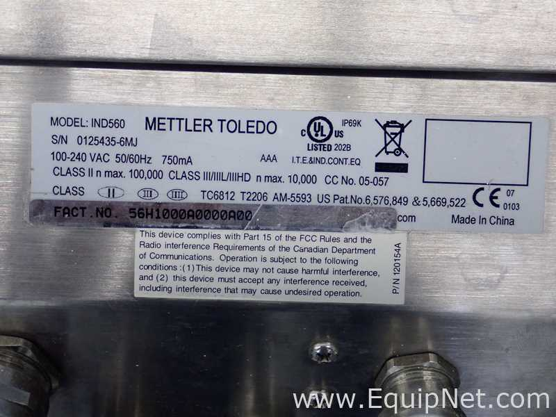 Mettler Toledo CBU300X Scale With IND560 Weighing Terminal - Image 10 of 14