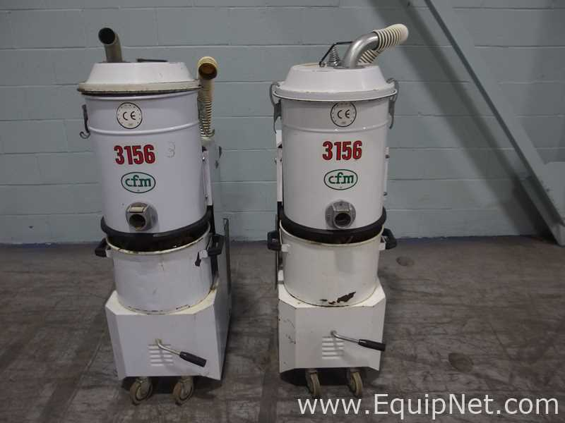 Lot 49 - Lot of 2 CFM 3156 TS Industrial Vacuums