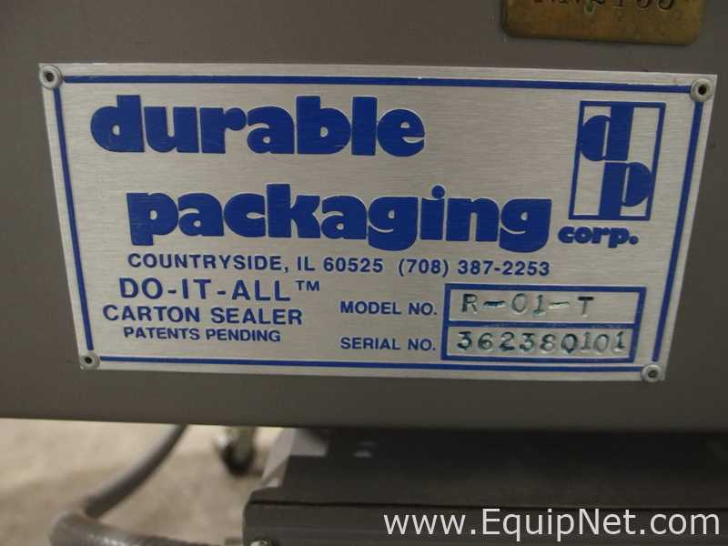 Durable Packaging RM3-FC-S Workhorse Case Sealer with R-01-T Standard Case Sealer - Image 14 of 17