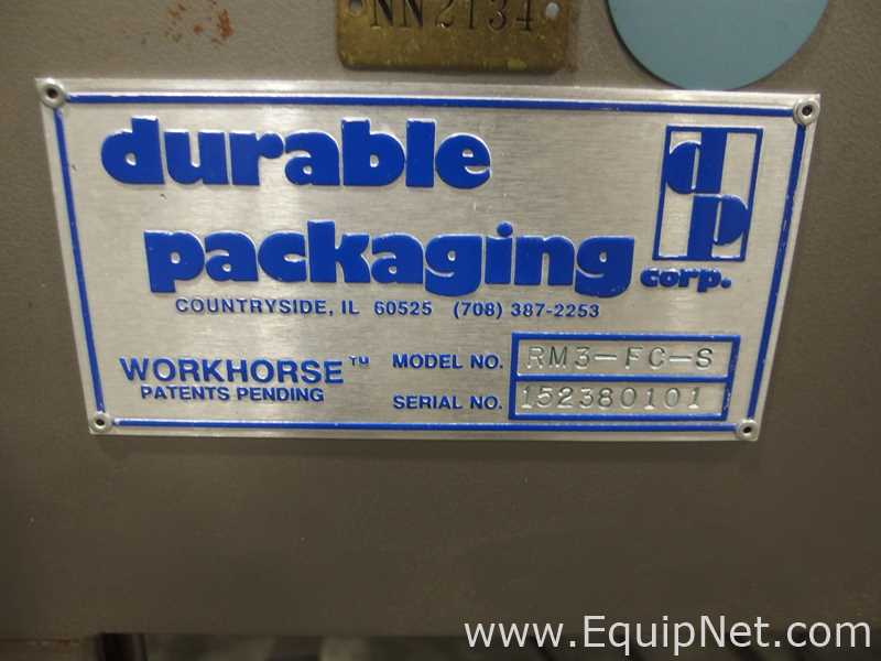 Durable Packaging RM3-FC-S Workhorse Case Sealer with R-01-T Standard Case Sealer - Image 8 of 17