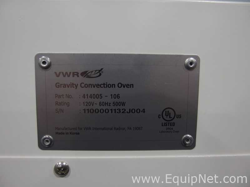 Lot 50 - VWR 414005-106 Gravity Convection Oven