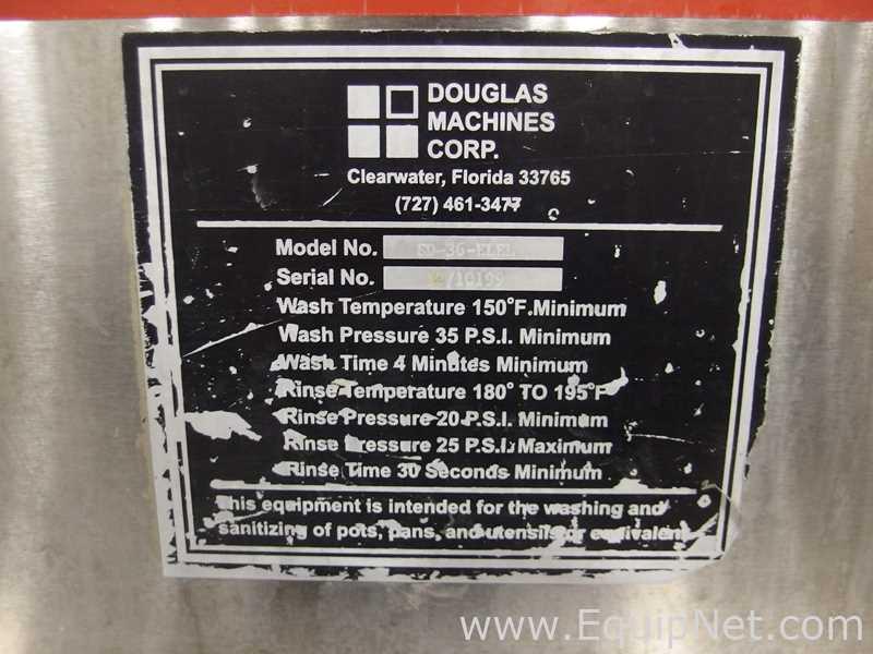 Douglas Machines Corp SD-36-ELEL Pot Pan Utensil Washer - Image 10 of 12