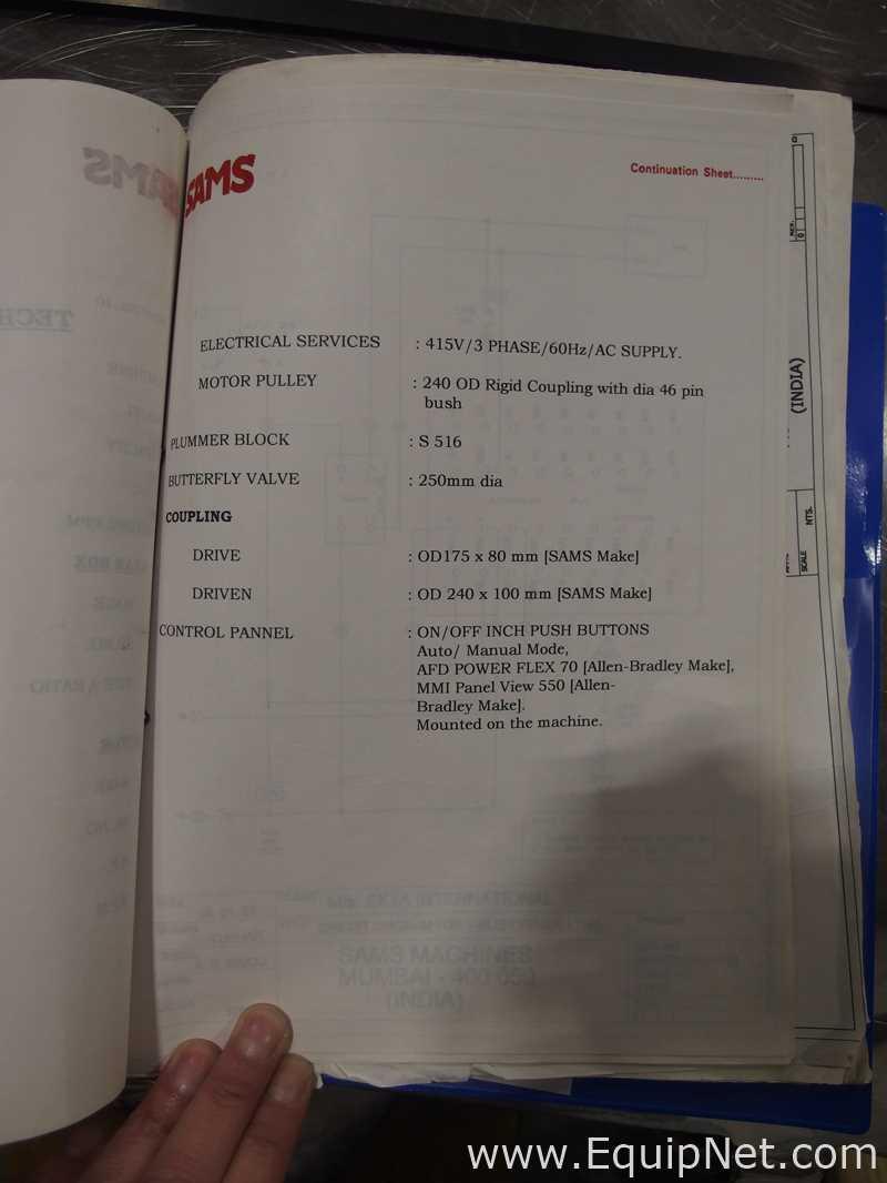 Lot 1 - SAMS Machine Tools 900 LTR GMP V Blender