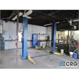 2008 Versymmetric Challenger CLFP9 2 post hydraulic auto lift, 9,000 lb. cap., 230 V, 20 amp, 1