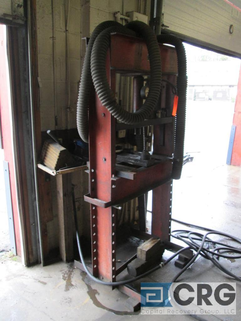 Red Arrow Tow Bar Mfg. Co. hydraulic press, H-frame type, 20 ton cap., m/n, s/n not available