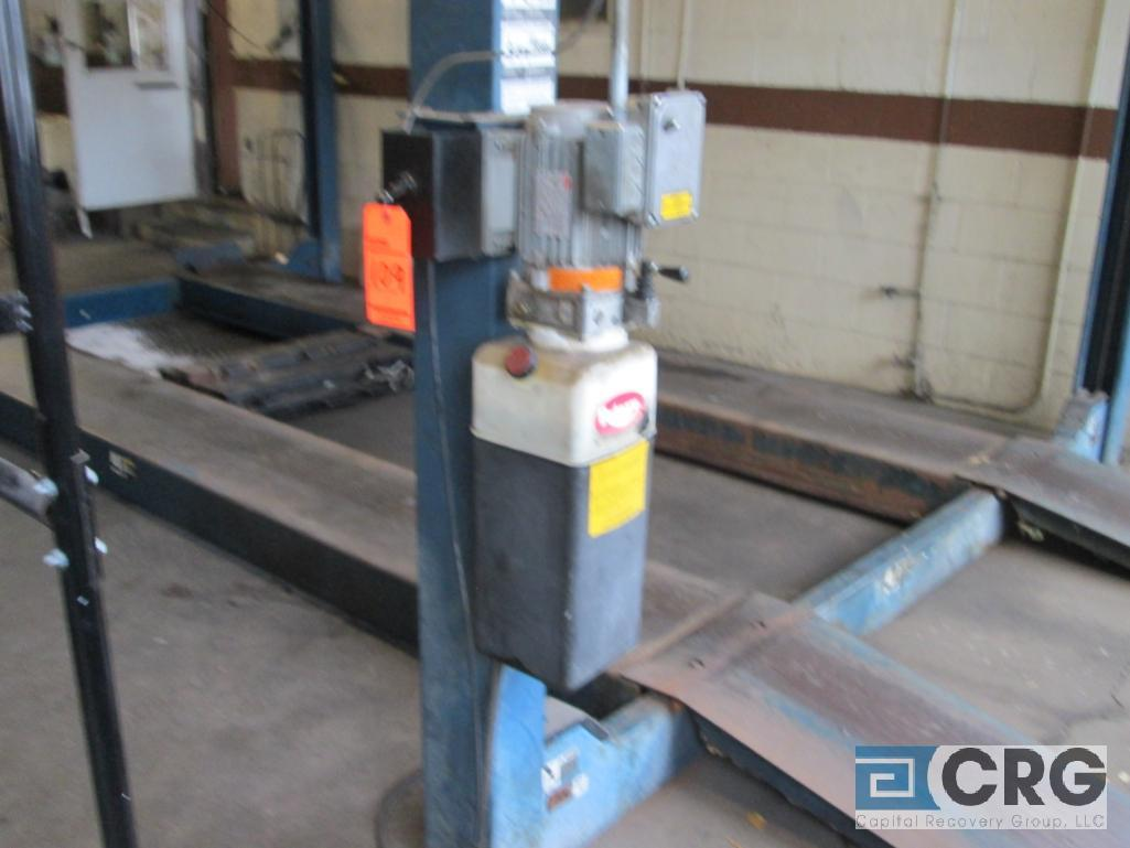 Rotary SM123-00 4 post alignment rack, 12,000 lb. cap., s/n SEA01A0003 with pneumatic jack lift - Image 3 of 6