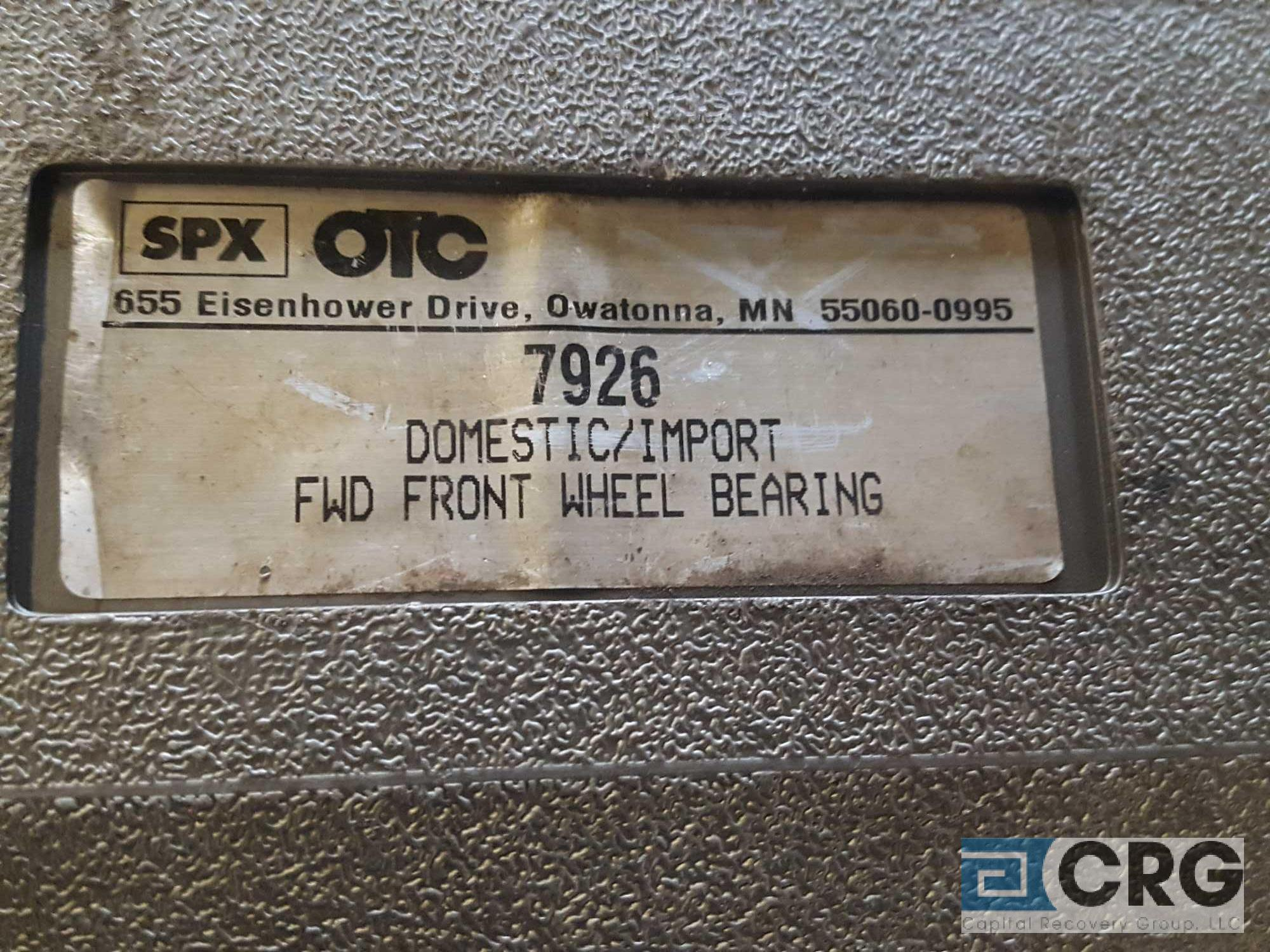 Lot of assorted tooling including (1) SPX OTC 7926 domestic/import FWD front wheel bearing kit, ( - Image 3 of 5