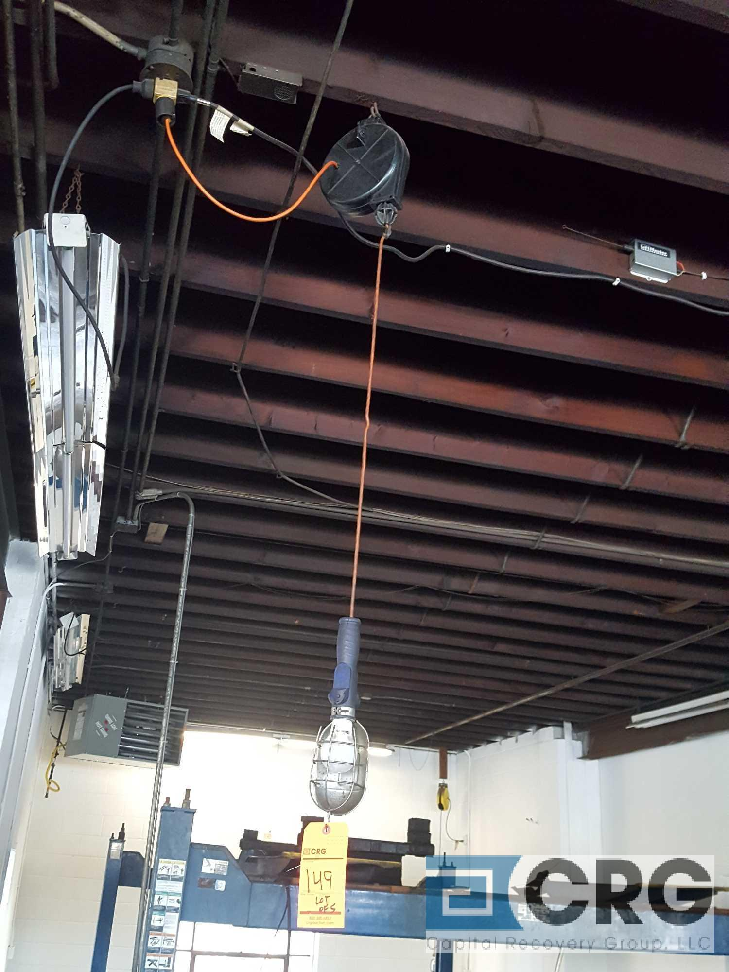 Lot of (5) assorted retractable drop lights. (Buyer responsible to take down) - Image 3 of 6