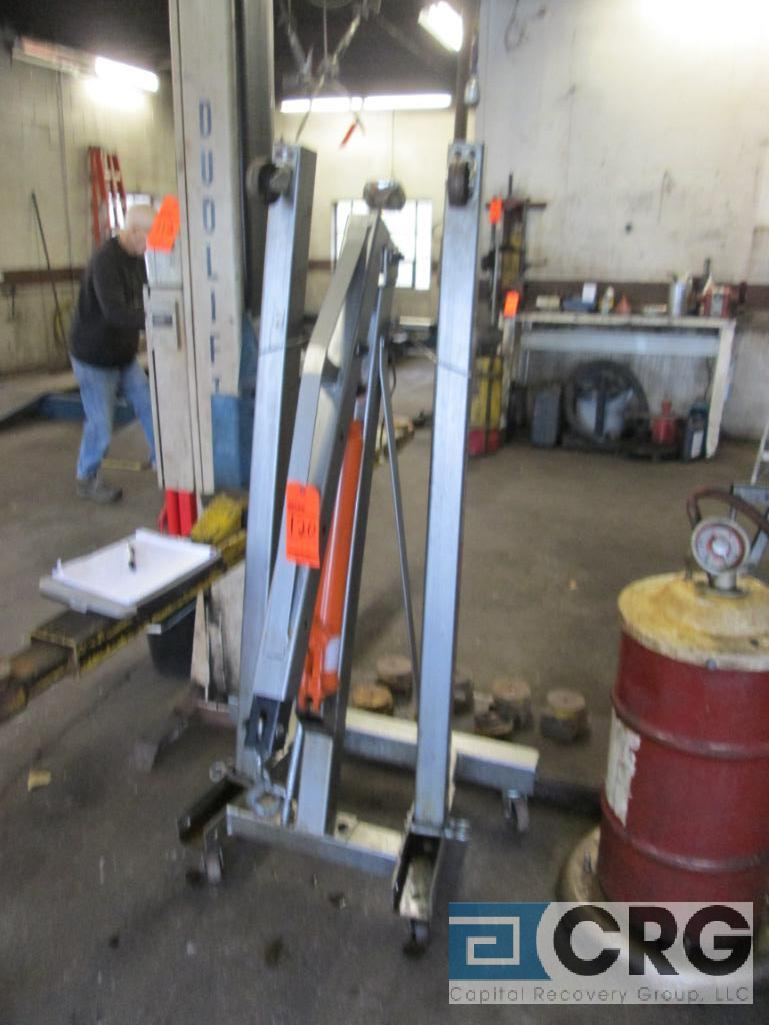 Pittsburg Automotive portable engine crane with 2 ton cap. Hydraulic jack - Image 2 of 4