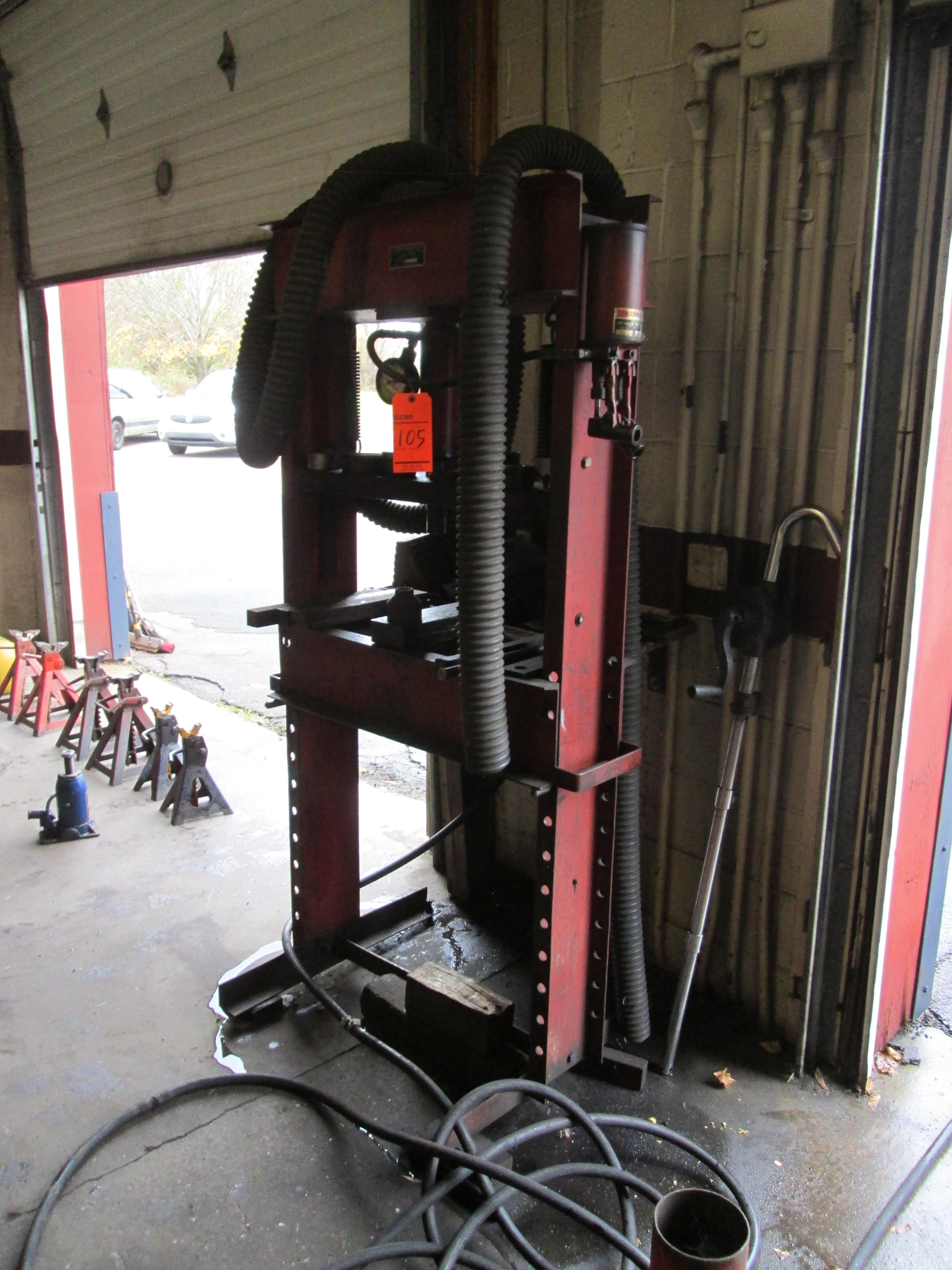 Red Arrow Tow Bar Mfg. Co. hydraulic press, H-frame type, 20 ton cap., m/n, s/n not available - Image 3 of 3