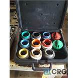 Set of STANT FUEL CAP TESTING ADAPTERS.