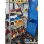Lot of assorted automotive repair tools and accessories etc. ; including 2 sets of jumper cables,
