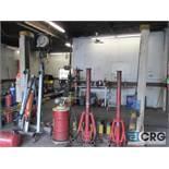 Duolift 2 post hydraulic auto lift, type GE 2.5, No. 10 84 15696, 6.350 lb. cap., 220V, 20 amp, 3.