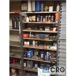 Lot of assorted automotive accessories. Contents of shelving.