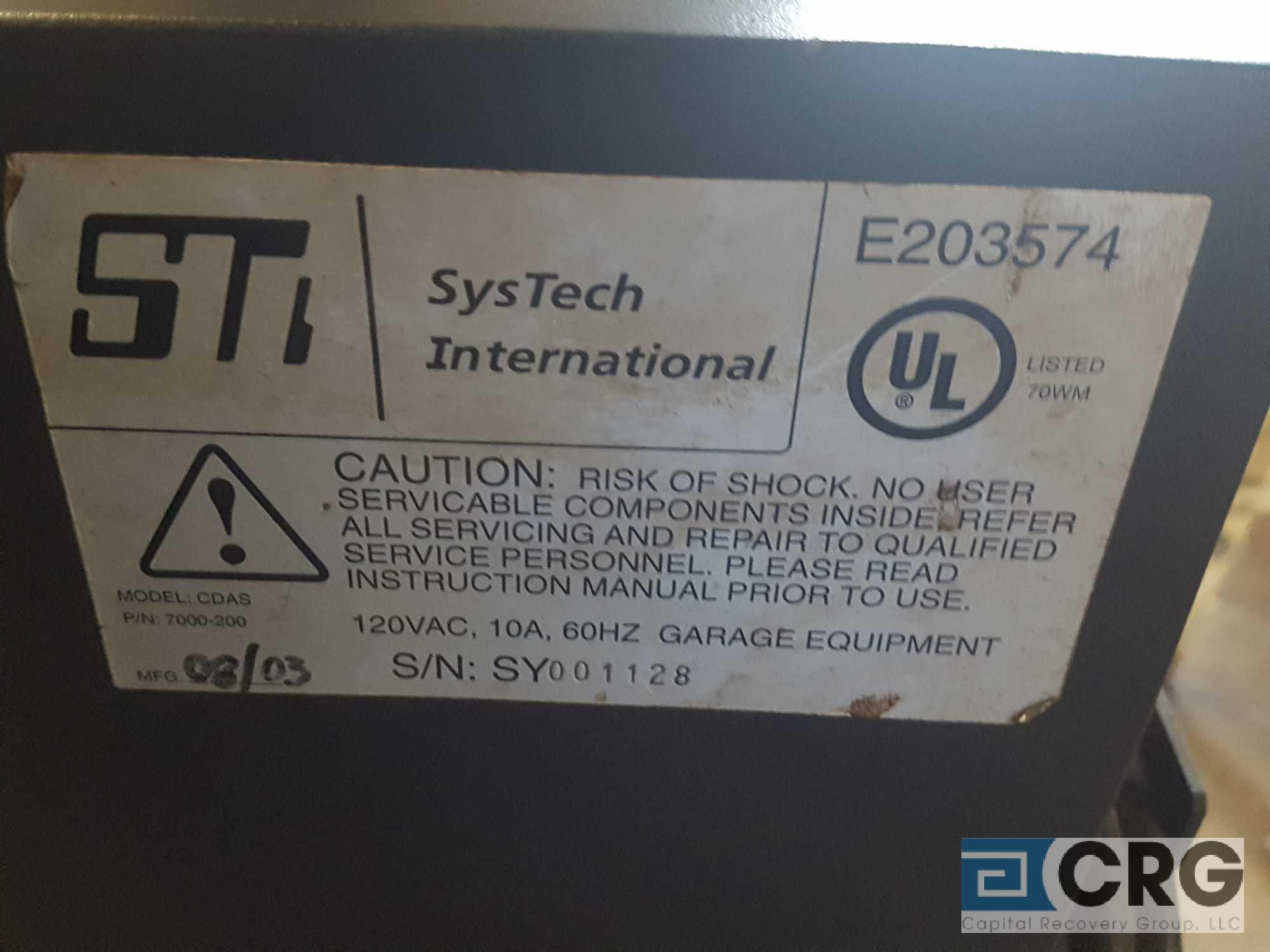SYstech International Computer System, model E203574, serial SY001128, in portable cabinet. - Image 2 of 5