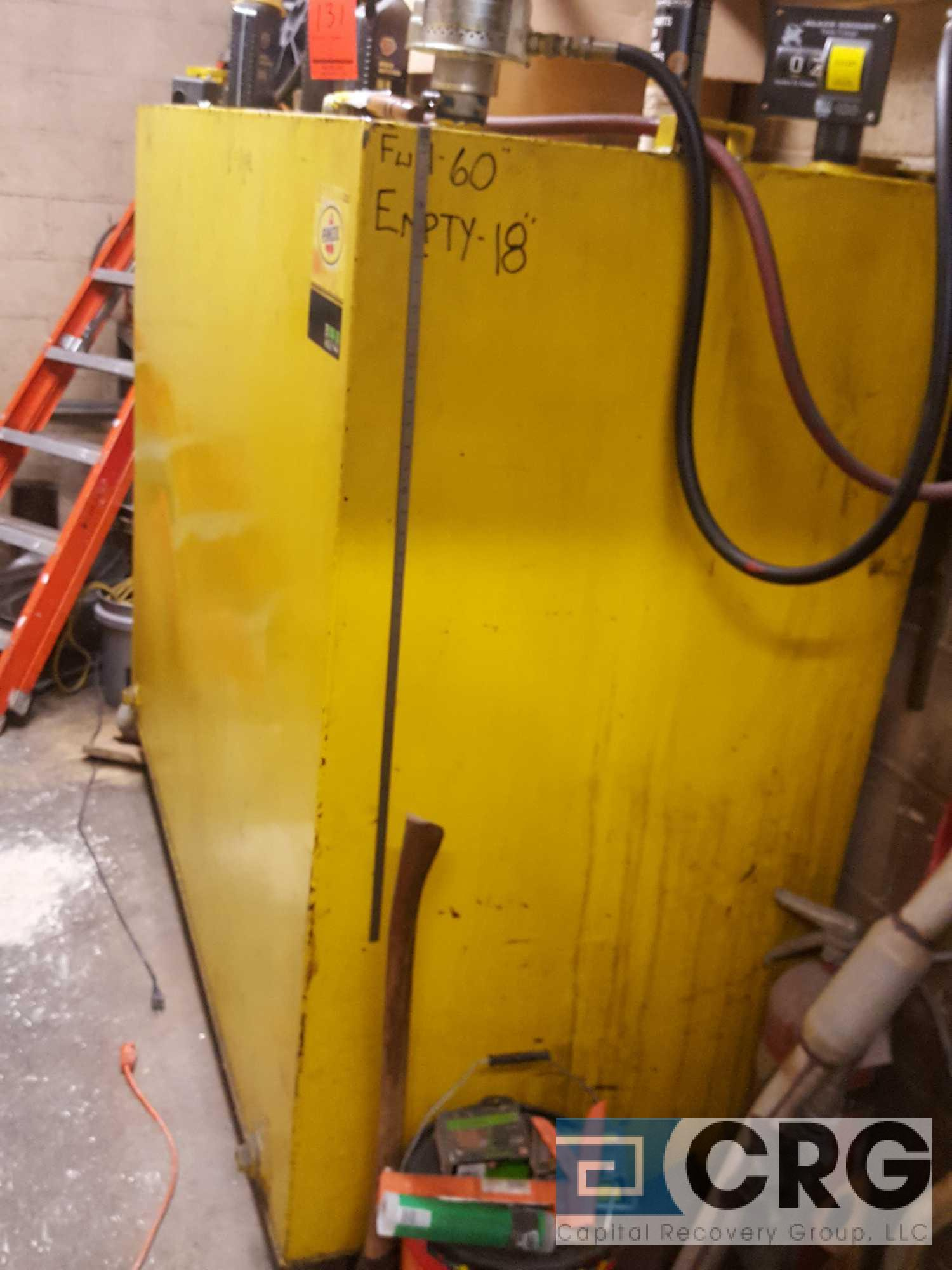 620 plus gallon motor oil, steel tank, with Graco pump and gauge, 78 inch long x 42 inch wide x 62