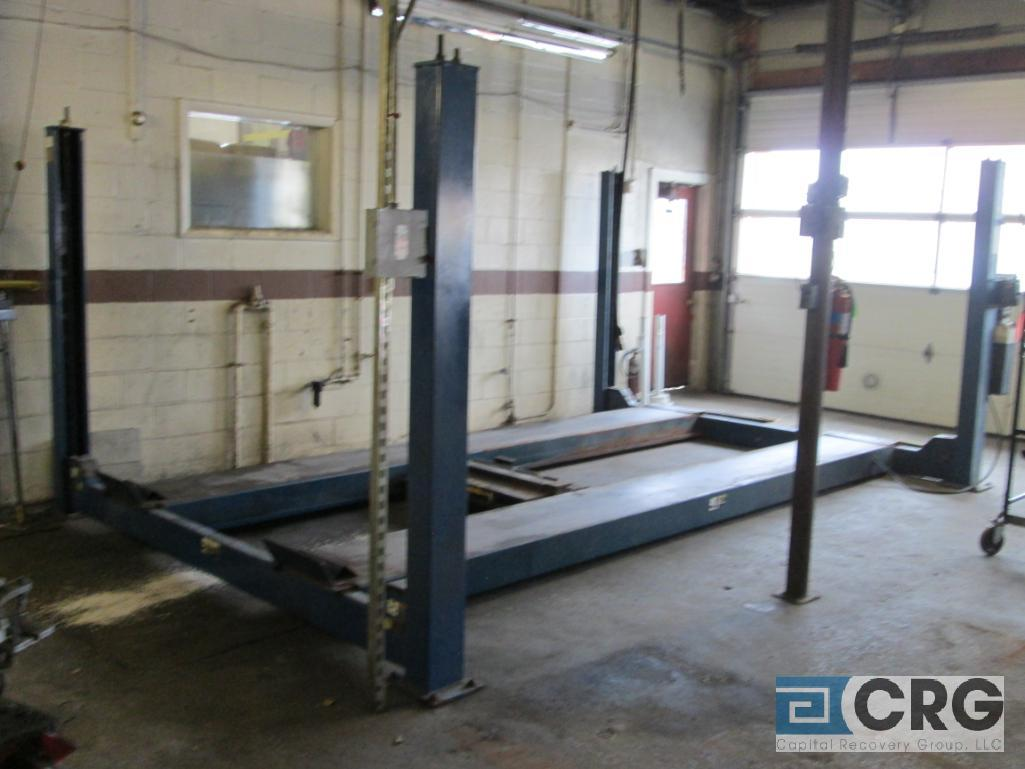 Rotary SM123-00 4 post alignment rack, 12,000 lb. cap., s/n SEA01A0003 with pneumatic jack lift - Image 2 of 6