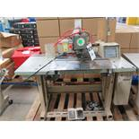 2008 Mitsubishi PLK-E2010R Industrial Sewing Machine s/n 853800 w/ Mits Touch Screen, SOLD AS IS