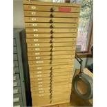 Sandpaper cabinet with 23 drawers
