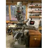 Bridgeport Milling Machine, SN: 22637, with Lyman MK 4 Power Feed, Bridgeport Machine vise, Head SN: