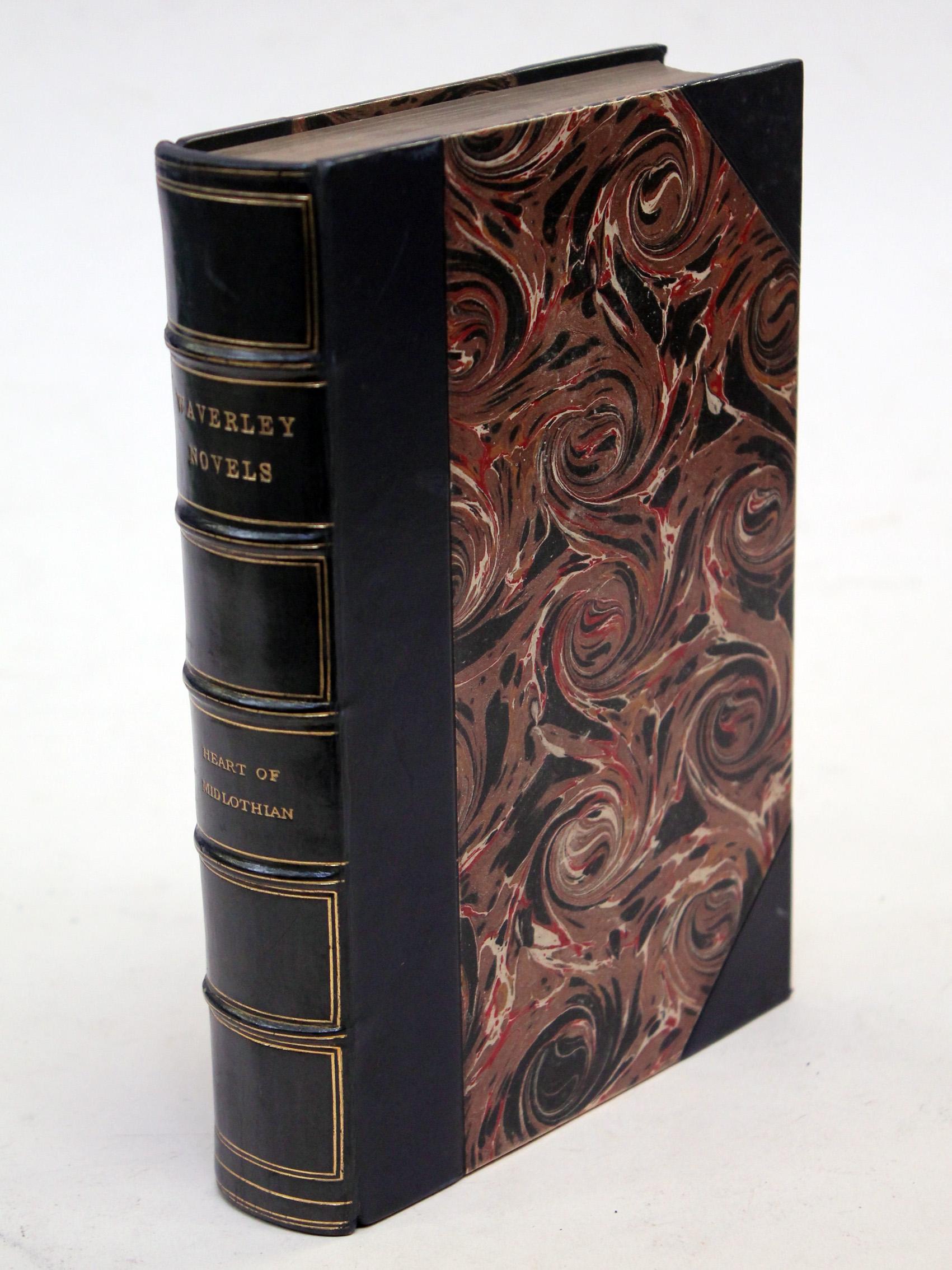 1871 25 Vols Sir Walter Scott Waverley Novels Centenary Edition Leather Binding