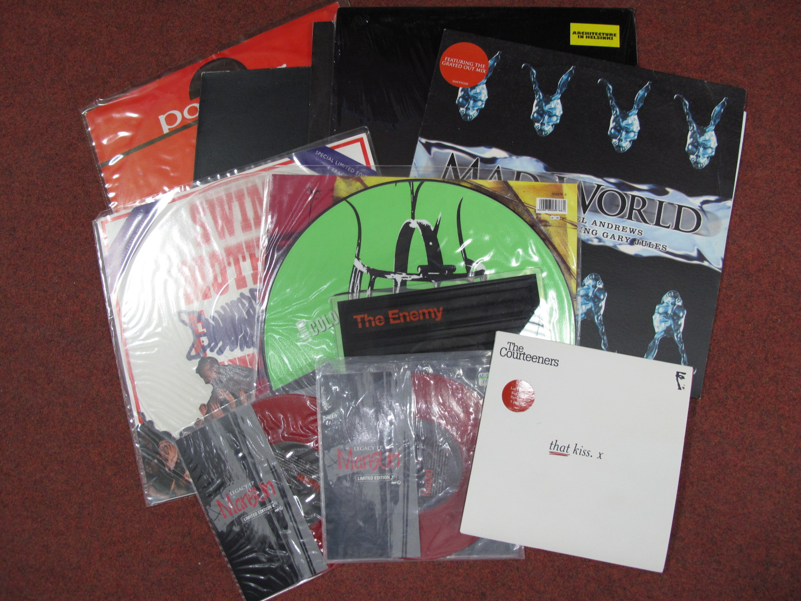 "Lot 734 - Coloured Vinyl/Picture Discs - To include The Courteeners 'That Kiss' 7"" red vinyl set (with"