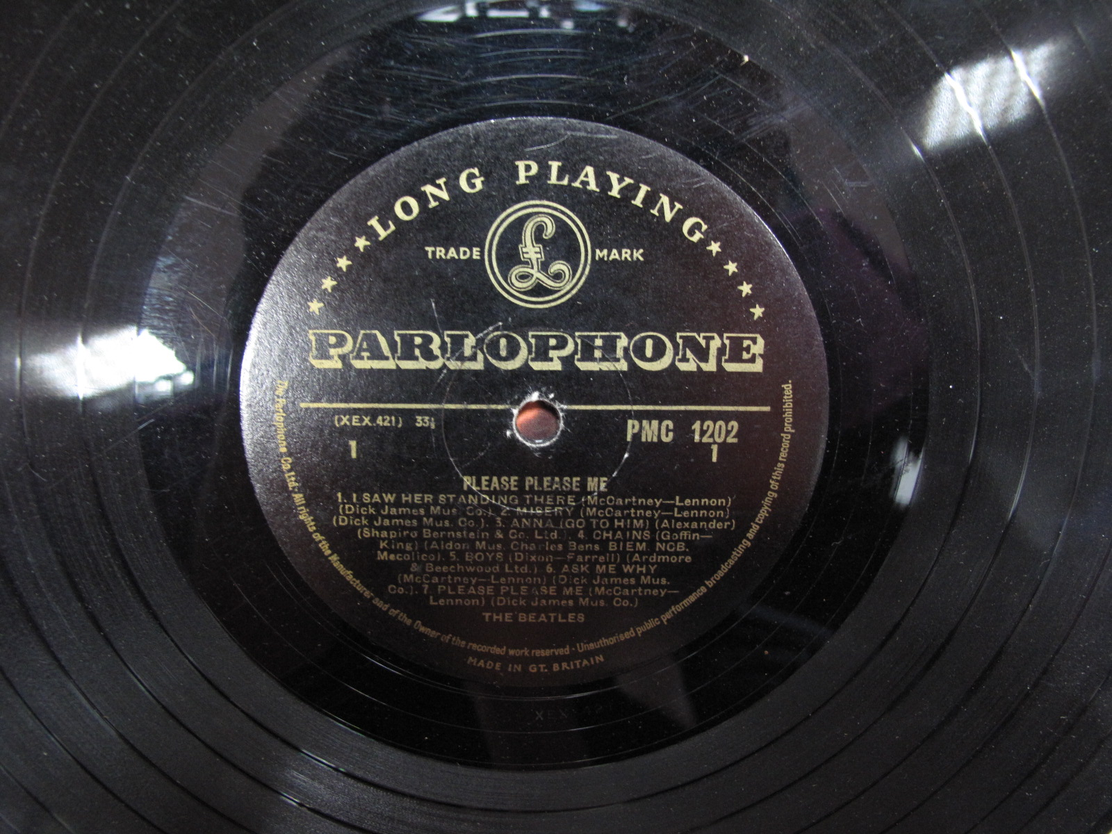 Lot 746 - The Beatles: Please Please Me LP, the rare black/gold Parlophone label, mono PMC 1202, Parlophone