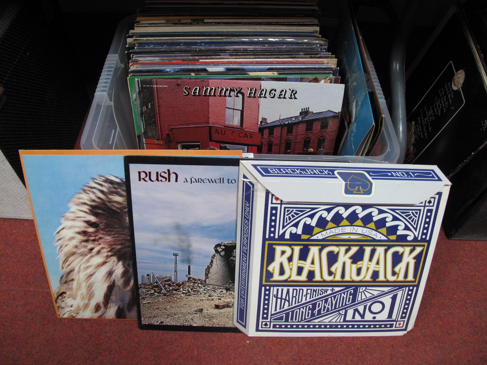 Lot 725 - Rock Interest: A Collection of LP's to include Sammy Hagar, Rush, Blackjack, Blackfoot, Rockets,